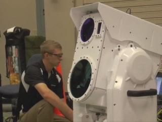 Boeing's Laser Gun Shoots Down Drone