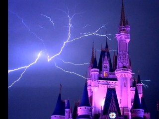 Lightning Strike Over Cinderella's Castle