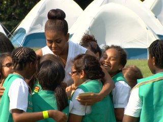 Girl Scouts Prepare for White House Campout