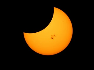 Partial Solar Eclipse Captured in Time-Lapse