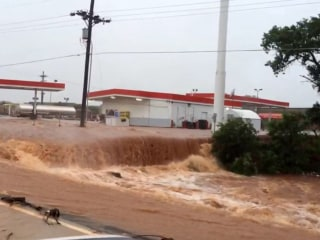 Flooding Turns Roads into Rivers in Elk City, Oklahoma