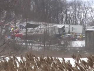 Fatal Pileup Closes Pennsylvania Highway