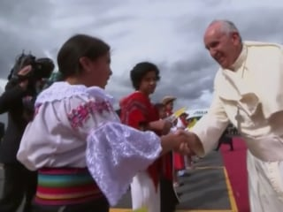 Pope Francis Arrives in Ecuador