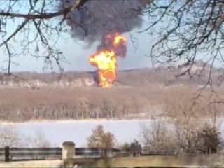 Illinois Train Derailment Causes Large Fireball