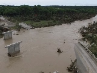 Texas Flooding Wipes Out Bridge
