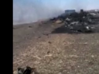 Video Shows Immediate Aftermath of Russian Jet Crash