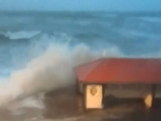 Huge Thundering Waves Pound UK Shores