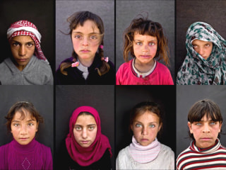 Portraits Capture Piercing Gaze of Syrian Refugee Children
