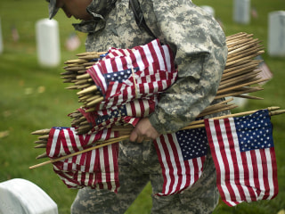 Watch 'Old Guard' Post Flags on Arlington Graves
