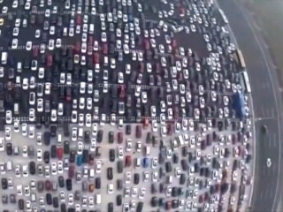 Think You Have A Bad Commute? 50 Lanes of Gridlock in Beijing