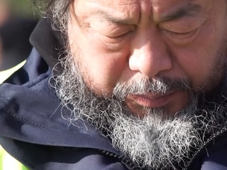 Artist Ai Weiwei Visits Migrants in Lesbos