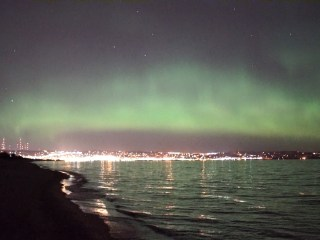 Northern Lights' Spectacular Show Over Lake Superior