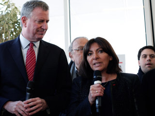 New York's Mayor Delivers Message of Support to Paris