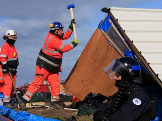 Shelters Torn Down as Demolition Begins at Notorious Calais Camp