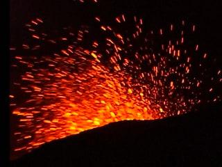 Dazzling Fireworks: Chile's Villarrica Volcano Erupting