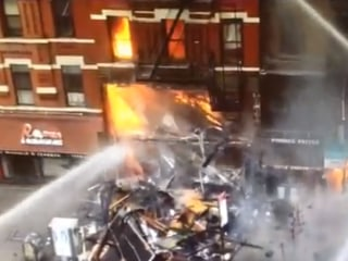 FDNY Video Shows East Village Building Collapse