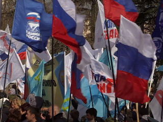 On The Streets Again: Pro-Russians Celebrate in Crimea