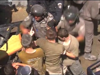 Clashes at West Bank Apartment Block Demolition