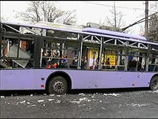 Ukrainian Civilians Killed in Donetsk Bus Stop Blast