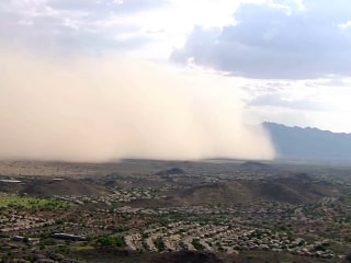 Arizona Dust Storm Sweeps Over Phoenix