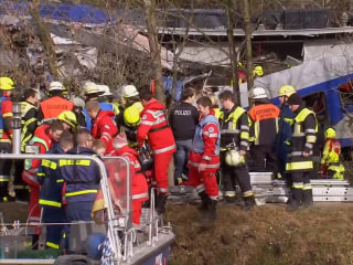 Trains Collide in Southern Germany