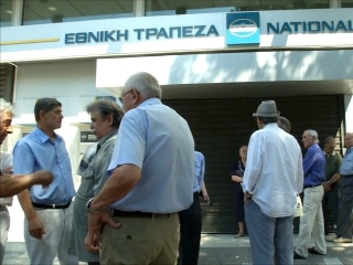 Greek Retirees Complain About Restrictions on Their Pensions