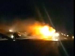 Plane Collision Sparks Fire at Indonesian Airport