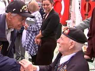 U.S. and British Vets Meet Ahead of D-Day Anniversary