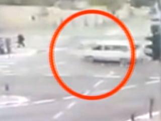 Security Cameras Capture Van Careening Into Pedestrians in Jerusalem