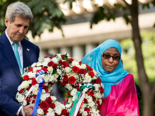 John Kerry Lays Wreath to Victims of 1998 U.S. Embassy Bombing