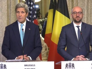 Kerry: 'The U.S. Stands Firmly Behind Belgium'