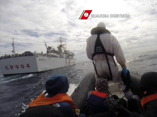 Italian Coast Guard Rescue Migrants, Land at Lampedusa