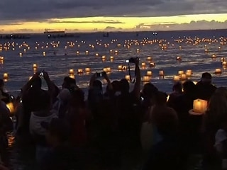 Six Thousand Candle Lanterns Set Afloat From Hawaii