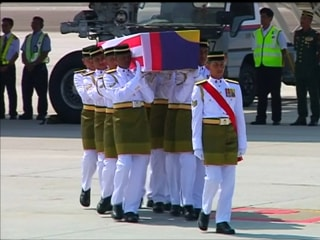 Bodies of Malaysian MH17 Victims Return Home