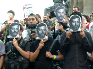 Media Workers Protest Murder of Photojournalist Ruben Espinosa