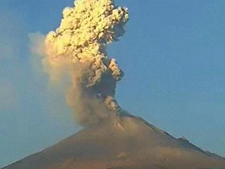 Time Lapse: Popocatepetl Volcano Spews Ash