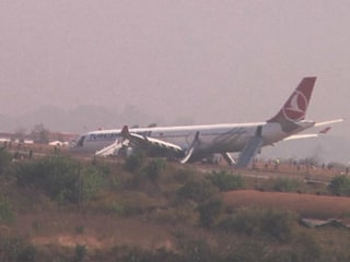 Turkish Airlines Aircraft Skids Off Runway in Nepal