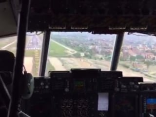 From the Cockpit: Relief Flight Touches Down in Kathmandu