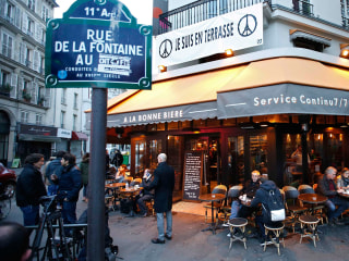 Paris Terror Attack Cafe Reopens for Business