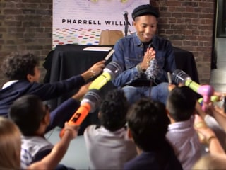 Children Quiz Pharrell Williams in Press Conference