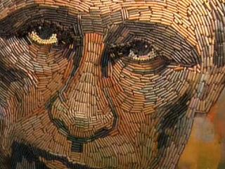 Ukrainian Artist Creates Putin Portrait, Comprised of Spent Shells
