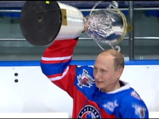 Putin Takes to Ice, Scores 7 Goals on 63rd Birthday