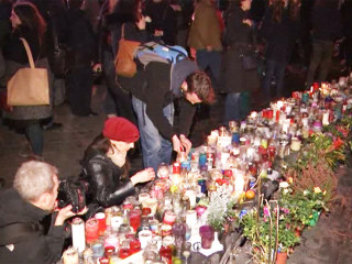 Mourners Pay Respects to Charlie Hebdo Victims