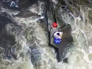 WATCH: Two Boys Plucked to Safety From Maine River