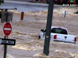 Dramatic Rescue as Pickup, Driver and Good Samaritan Swept Away
