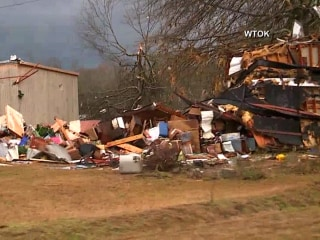 Homes Wrecked as Storms Sweep Through Southeast