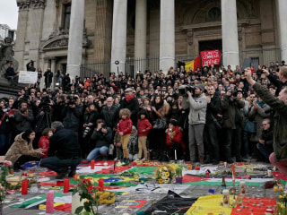 City Holds Minute's Silence for Brussels Terror Victims