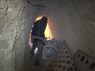 Follow Peshmerga Soldier Through ISIS Tunnels Beneath Sinjar