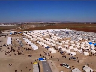 Drone Video Shows Scale of Huge Camp Prepared for Syrian Refugees