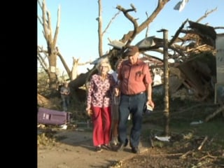Elderly Couple Happy to Survive Tornado 'Without a Scratch'